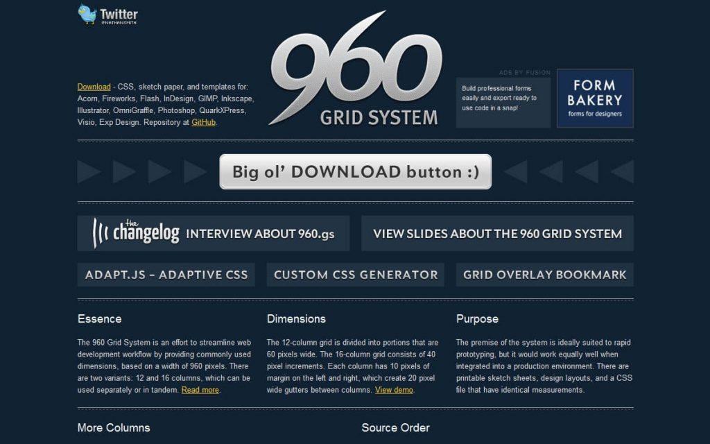 Gridsysteme als Grundlage des Webdesigns